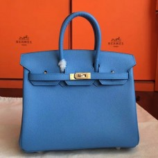 Hermes Blue Paradiso Epsom Birkin 25cm Handmade Bags