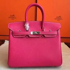 Hermes Rose Tyrien Epsom Birkin 25cm Handmade Bags