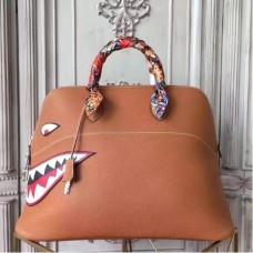 Hermes Shark Bolide 45cm Bags In Gold Calfskin