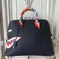 Hermes Shark Bolide 45cm Bags In Black Calfskin