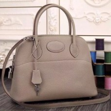 Hermes Bolide Tote Bags In Grey Leather