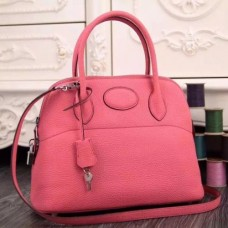 Hermes Bolide Tote Bags In Pink Leather
