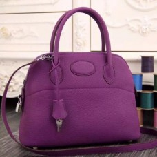 Hermes Bolide Tote Bags In Purple Leather