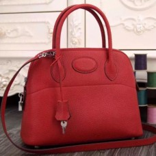 Hermes Bolide Tote Bags In Red Leather