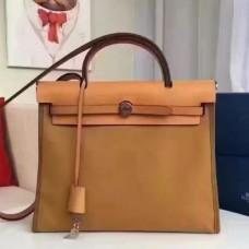 Hermes HerBags Zip PM 31cm Bags In Caramel Canvas