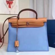 Hermes HerBags Zip PM 31cm Bags In Celeste Canvas