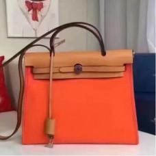Hermes HerBags Zip PM 31cm Bags In Orange Canvas