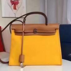 Hermes HerBags Zip PM 31cm Bags In Yellow Canvas
