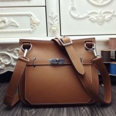 Hermes Brown Medium Jypsiere 31cm Bags
